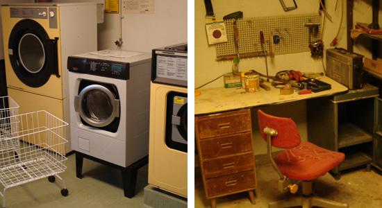 Tvättstuga och verkstad